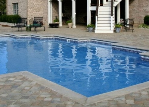 a in ground swimming pool
