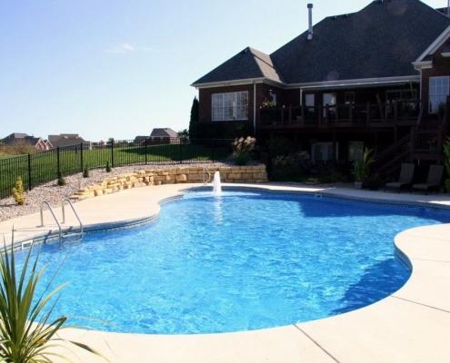 A Free form inground pool