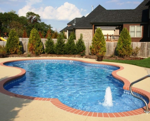 an inground free form pool