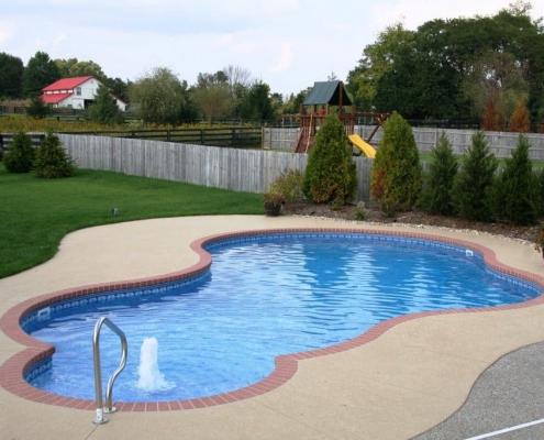 a free-form inground pool