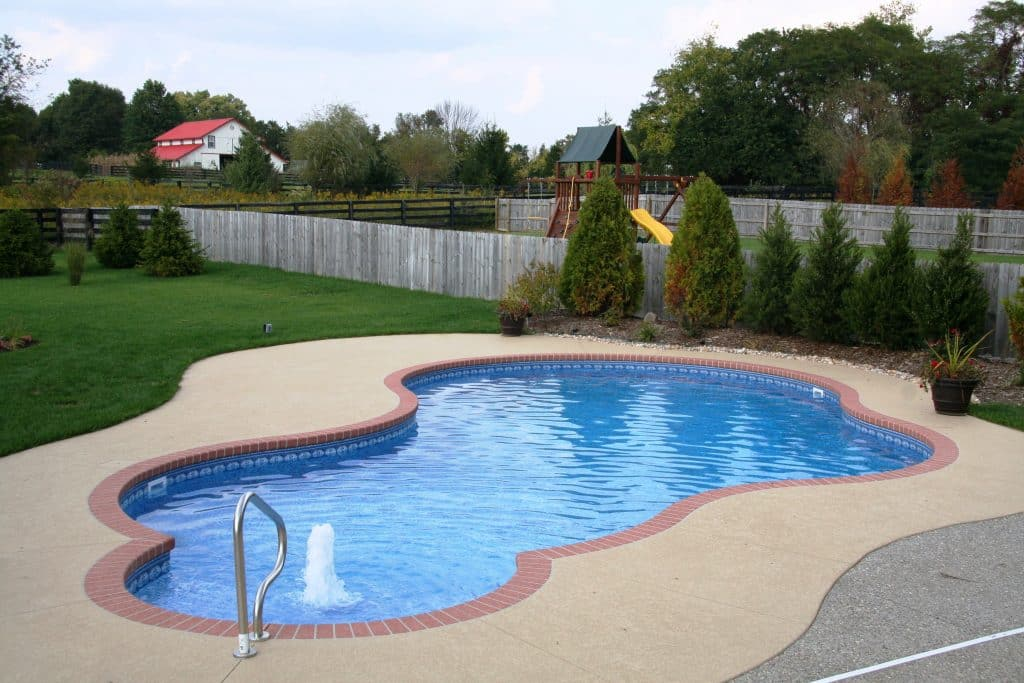 a free-form inground pool