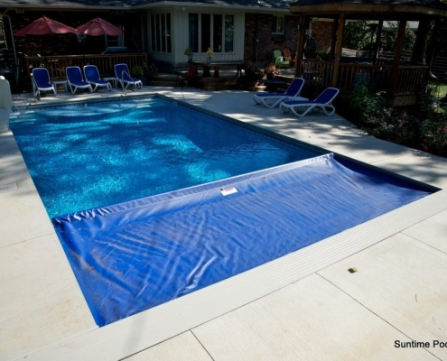 inground pool with an automatic cover