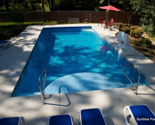 a finished inground pool