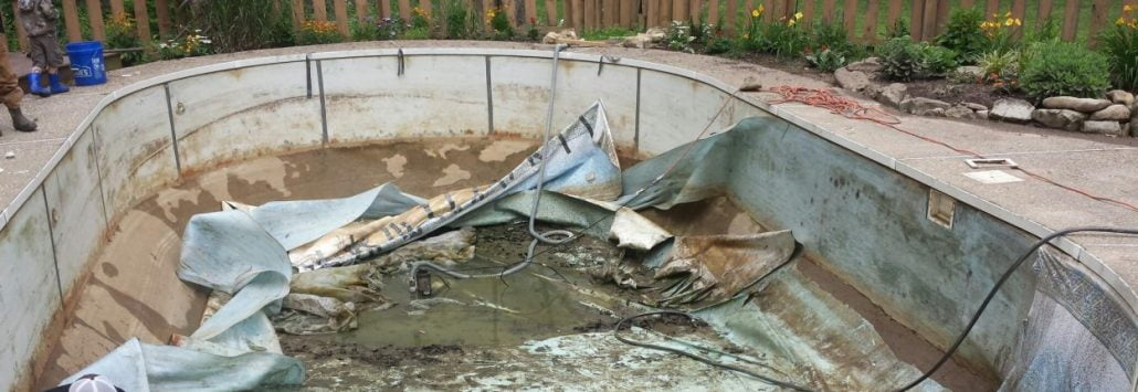 pool liner removal